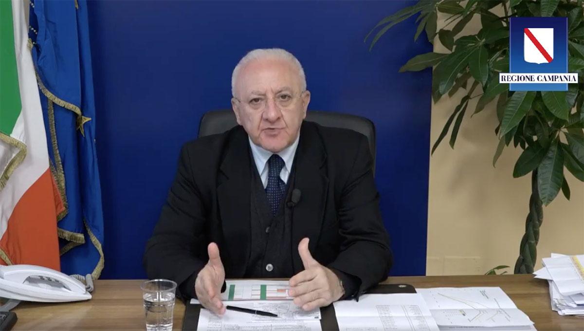 """Coronavirus in Campania, De Luca: """"Regione chiusa fino al 14 aprile"""""""