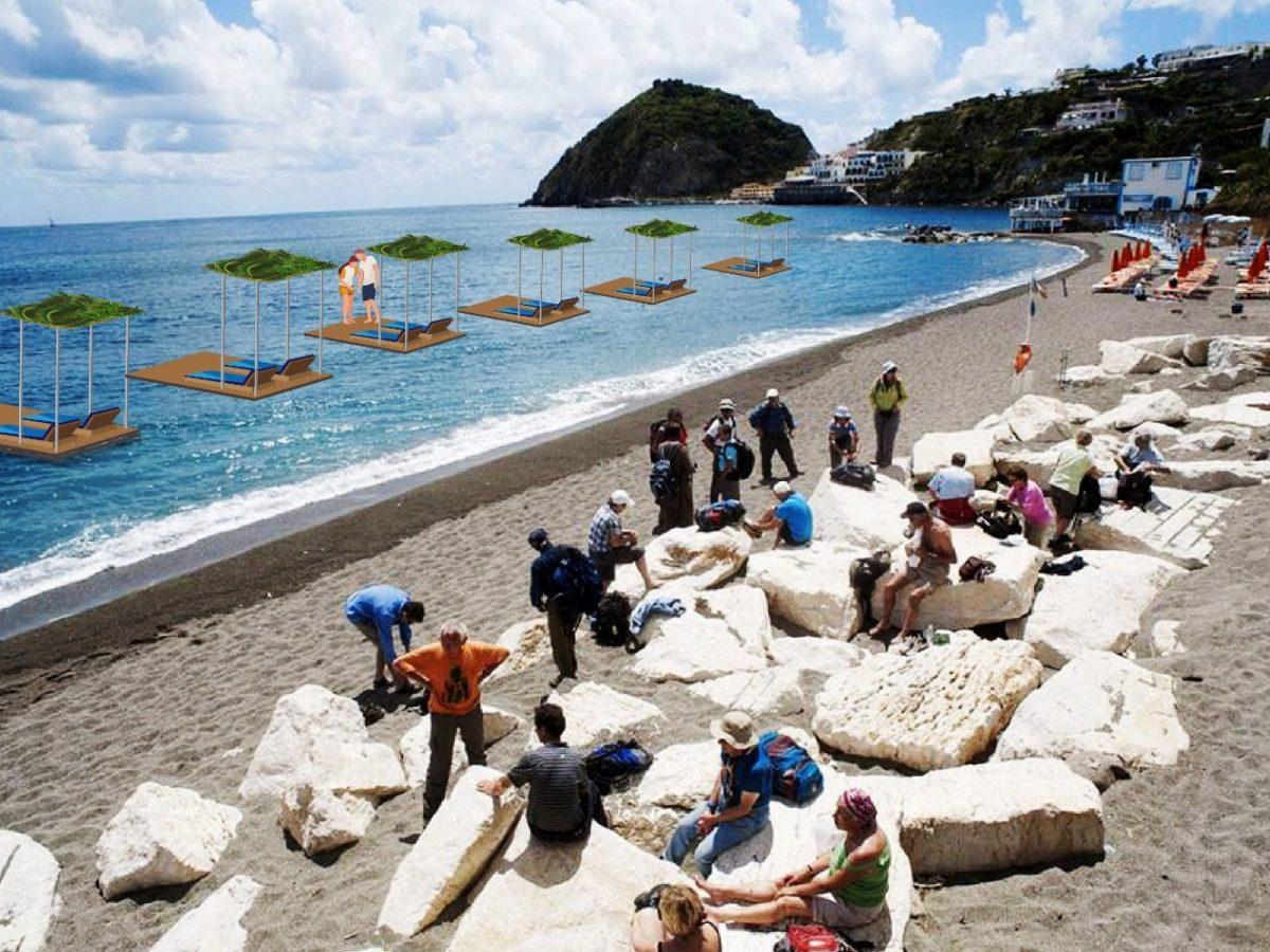 Le spiagge ai tempi del Covid: Ischia propone le palafitte