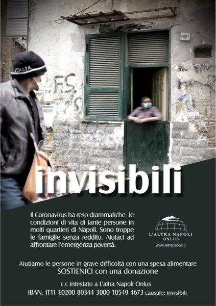 """Emergenza Coronavirus, """"Invisibili"""": il progetto per sfamare 500 persone"""