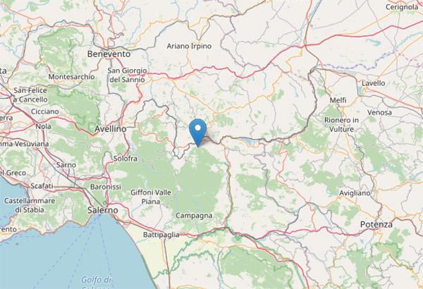Terremoto oggi ad Avellino: scossa di magnitudo 3.3