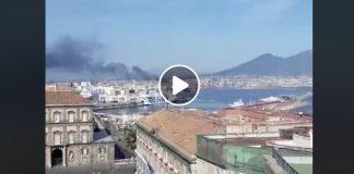 Incendio a Napoli: la diretta del consigliere Borrelli