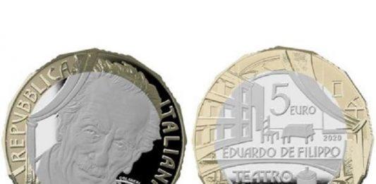 Moneta dedicata a Eduardo De Filippo: omaggio al teatro napoletano