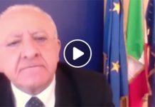 """Vincenzo De Luca furioso: """"Campania salva perché ho buttato il sangue"""""""