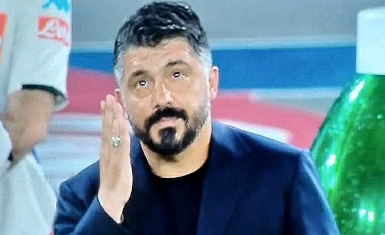Napoli Inter, il bacio soffiato al cielo di Rino Gattuso commuove tutti