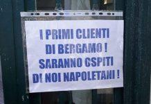 """Solidarietà napoletana: """"I beragamaschi saranno nostri ospiti"""""""