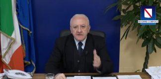 Covid19, Vincenzo De Luca: multe più salate per chi non rispetta le regole
