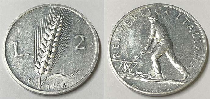 Valore delle 2 lire