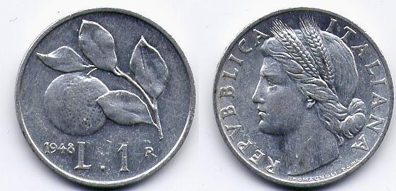 Valore di 1 lira