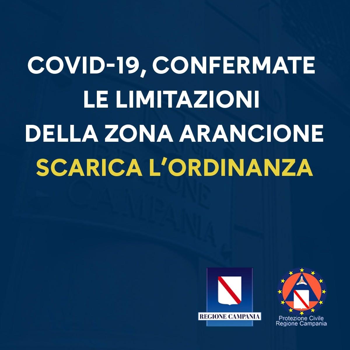 Covid, la Campania resta in zona arancione