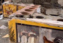 Il regalo di Natale di Pompei: riaffiora un Thermopolium
