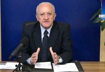 """Vincenzo De Luca, dà il suo ultimatum: """"Non dobbiamo esaltarci"""""""