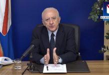 Covid-19, Vincenzo De Luca: rischio contagi Carnevale e San Valentino