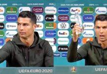 Cristiano Ronaldo acqua coca cola